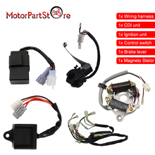 Wiring Harness Magneto Stator Ignition Switch CDI Unit Assembly For Yamaha PW50 PW 50 Y Zinger PEEWEE Motorcycle Dirt Pit Bike