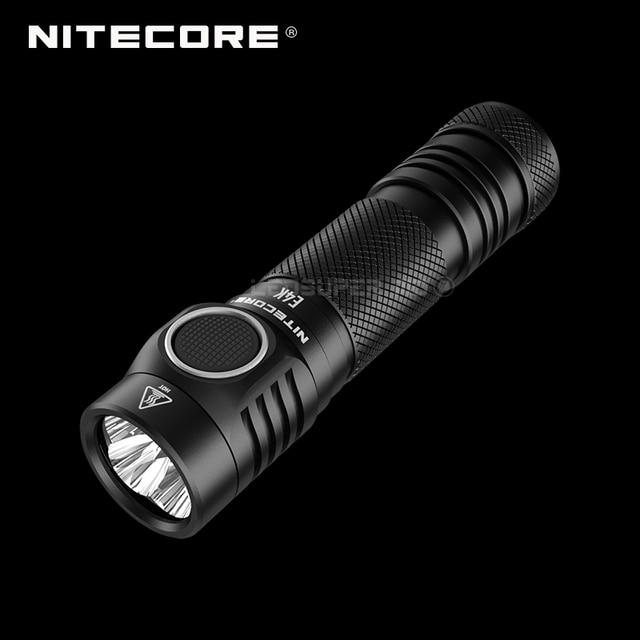 Next Generation NITECORE E4K 4400 Lumens 4 x CREE XP L2 V6 LEDs 21700 Compact EDC Flashlight with 5000mAh Li ion Battery