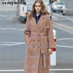 Vero Moda женское приталенное пальто из овечьей шерсти в клетку | 319427511