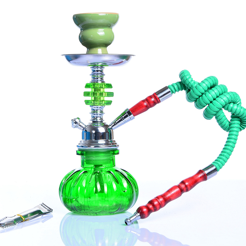 Mini Pumpkin Shisha Hookah Complete Set 28cm 11'' Tall Glass Vase with Tongs Disposable Mouthpieces Chicha Hooka Sheesha Hookha