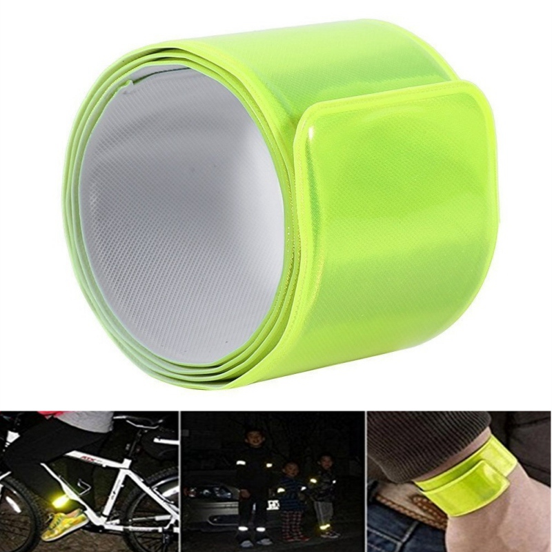 3pcs Reflective Wrist Bands Durable PVC Safety Slap Bands Night Armbands Luminous Bracelets Hiking Running Outdoor Tools