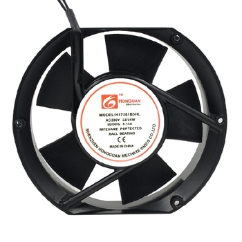HONGUAN H17251B3HL Server Cooling Fan AC 380V 0.13A 172x172x51mm 2-Wire