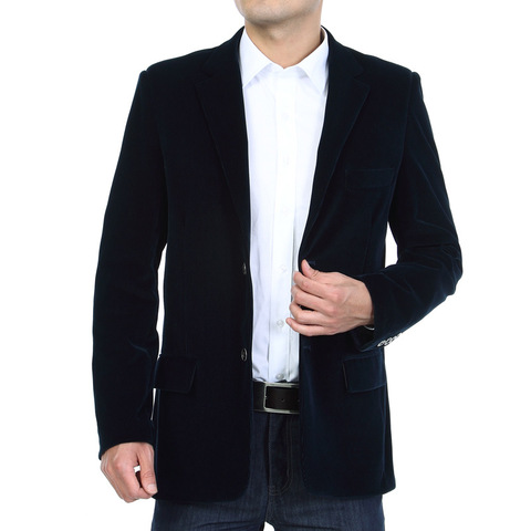 Mens Corduroy Blazers 2018 Autumn Men Blazer Smart Casual Jacket Solid Camel Black Cotton Business Suit Jackets Men Officer 4XL Lahore
