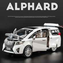 Business car nanny 1:24 alloy model pull back six open doors