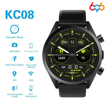 696 KC08 New fashion men's 4G smart watch 5MP HD Camera GPS 610Mah Large capacity battery Waterproof Sport  Watch Android 7.1