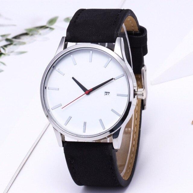 Large Dial Quartz Leather Business Casual Wristwatch 2