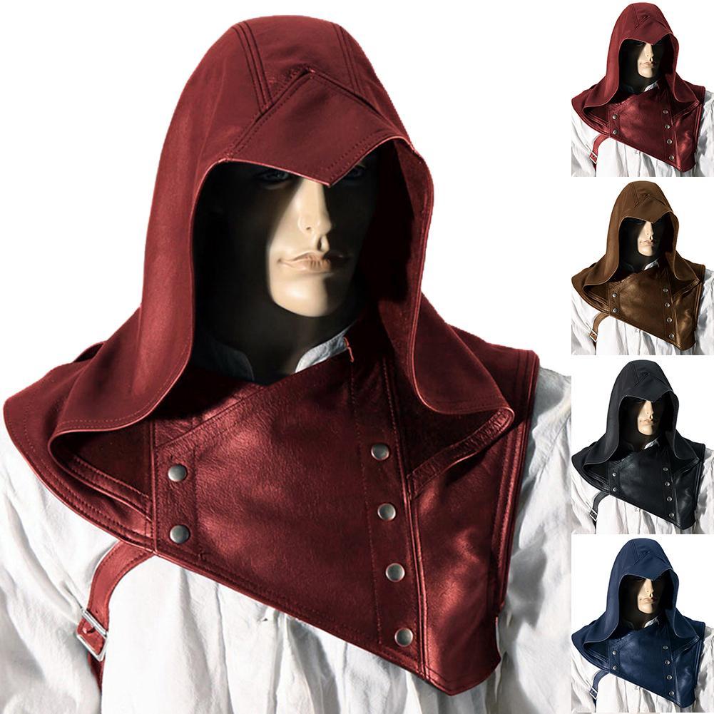 Unisex Vintage Medieval Hood Costume Cape Cowl Hat Halloween Capelet Cosplay Costume Hooded Cloak Cape For Women Men