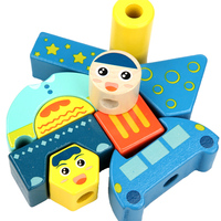 Educational Wooden Toy Sun Moon Day Night Pillar Blocks Early Learning Baby Kids Birthday Christmas Gift Dropshipping