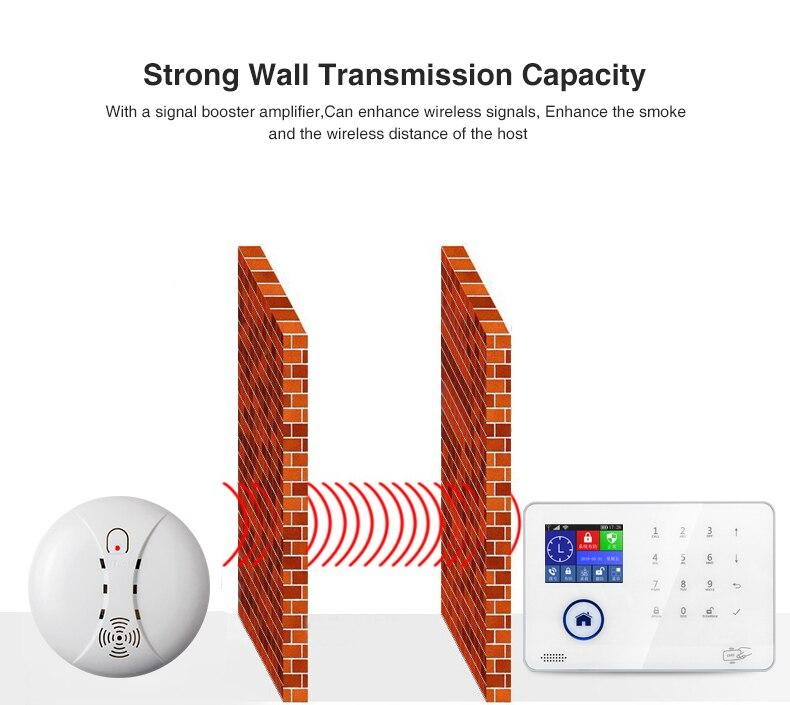 WIFI GSM Home Security Einbrecher Alarm Feuer Rauch Alarm System