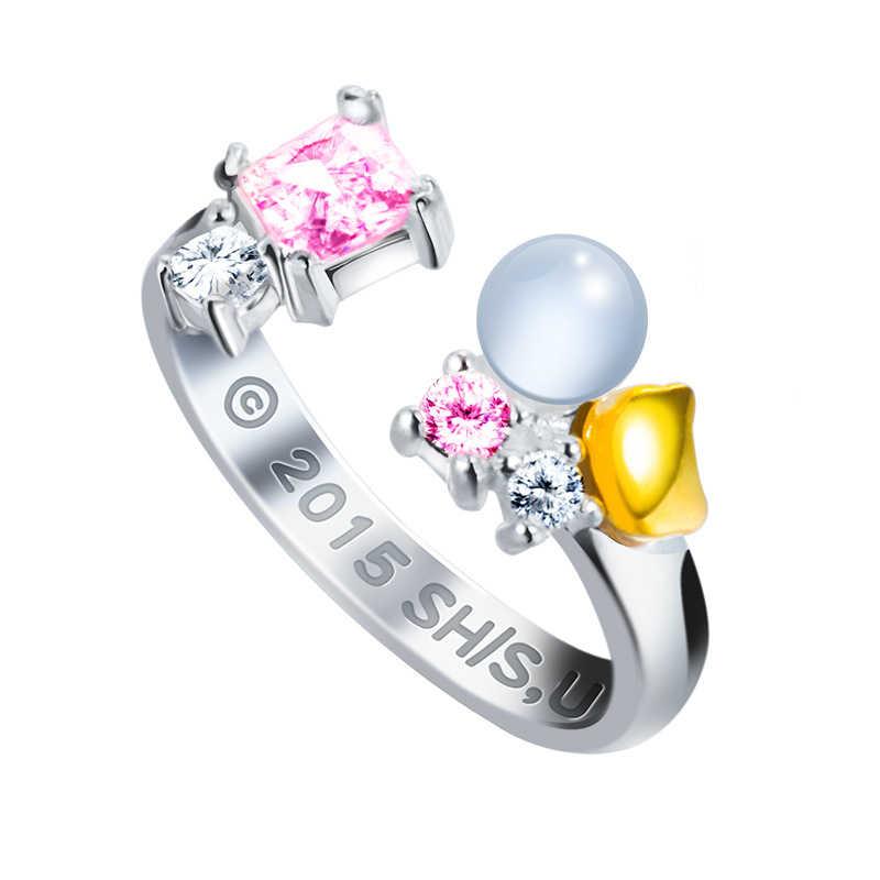 Anime Dia Di Luar! Umaru-Chan 925 Sterling Perak Ring Manga Peran Perhiasan Cincin untuk Wanita Baru Halloween Cosplay Pesta Hadiah