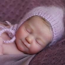 Rbg 19 polegadas diy boneca em branco renascer bebê boneca realista recém-nascido junho vinil unpainted inacabado peças brinquedos presente do ano novo