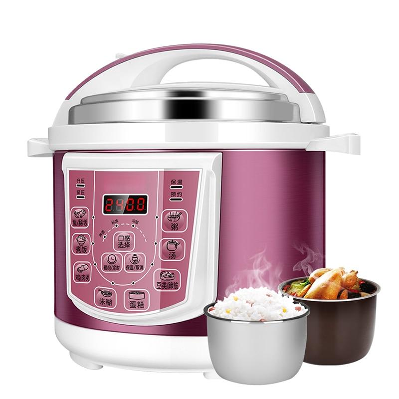 DMWD 220V 5L Home Electric Pressure Cooker Rice Cooker Stew Pot 8 Menu Soup Porridge Paste Cake Maker Kitchen Appliances|Electric Pressure Cookers|   - AliExpress