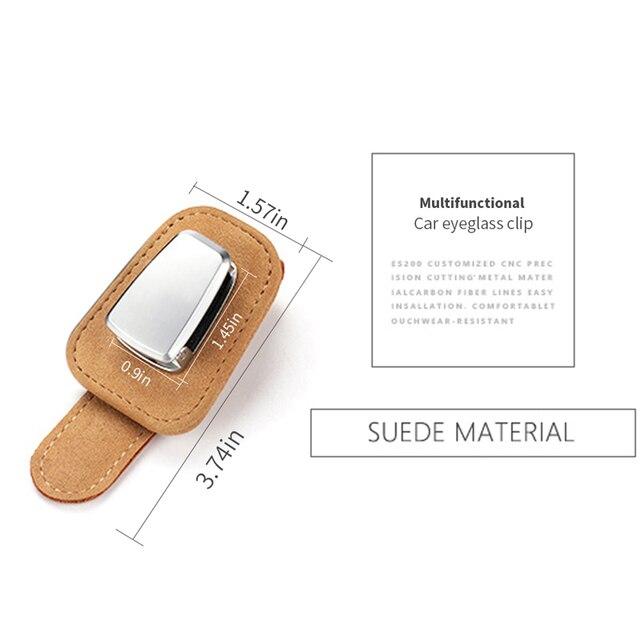 Portable Car Glasses Cases Ticket Card Clamp Car Sun Visor Sunglasses Holder For chrysler 300c 200 pacifica 5