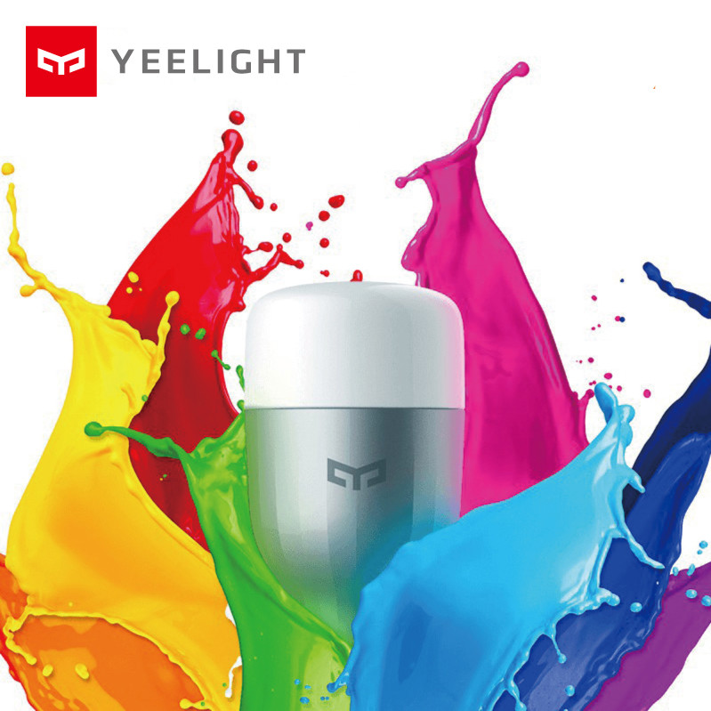 Original Yeelight Blue II LED Smart Bulb Colourful ( Color )E27 9W 600 Lumens Light Smart Phone WiFi Remote Control