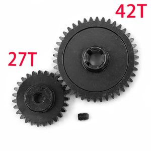 Metal Diff Main Gear 42T + Mot