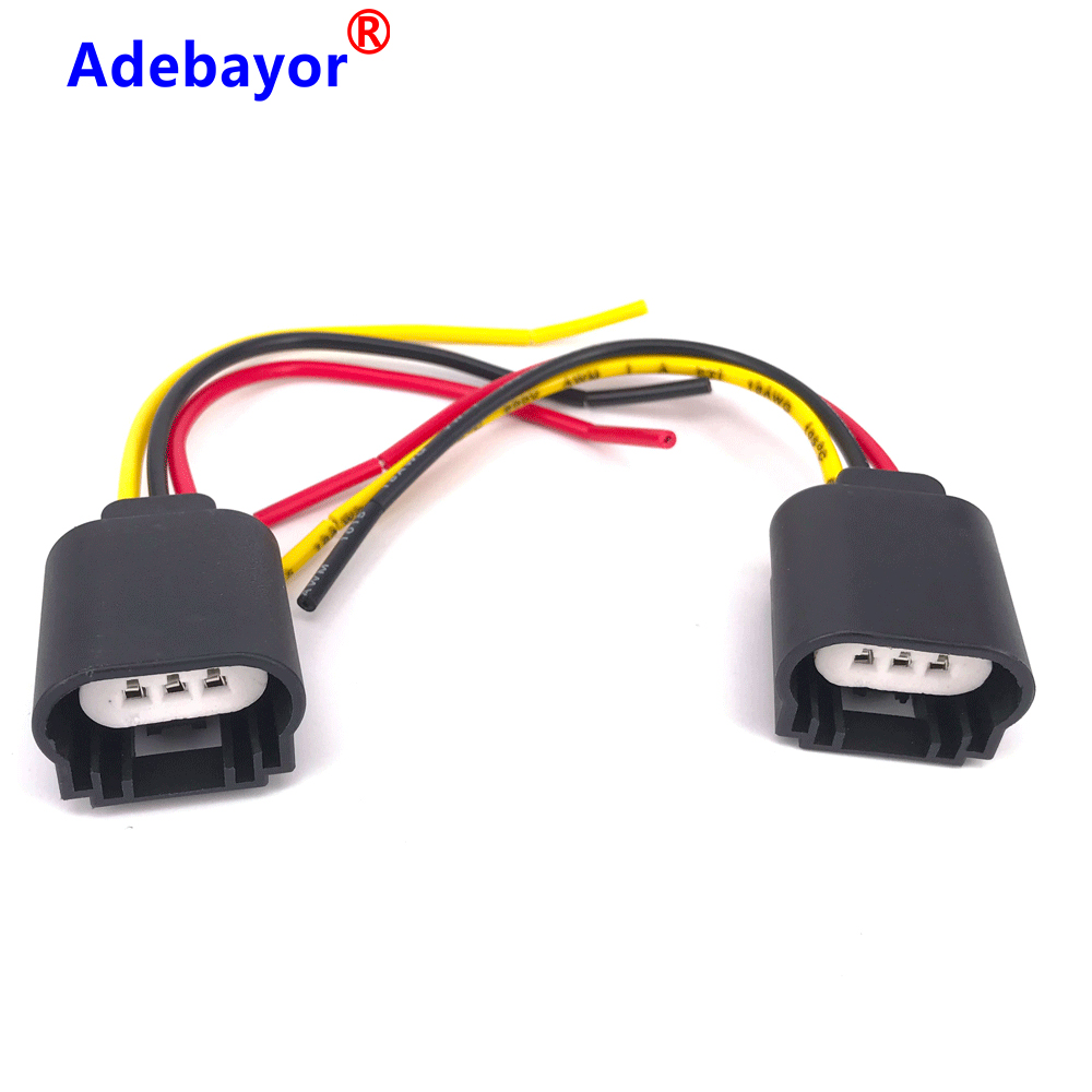 2pcs/lot New 9008 H13 Headlight Extension Socket Connector Plug CERAMIC HITEMP Car Light Source Car Styling