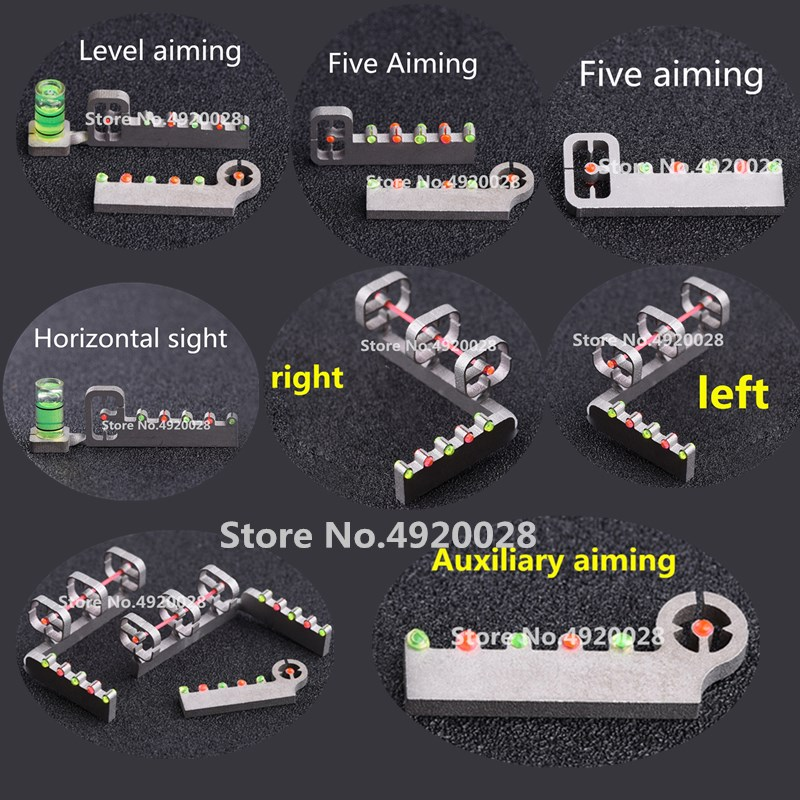 Slingshot Accessories 1 Set Of Slingshot Sights Horizontal Aiming / Five Aiming / Sniping Aiming For Different Slingshots2019