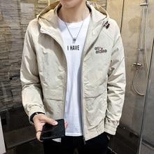 Autumn Hooded Men's Jackets Coat Trends Printing Men Jackets Windproof M-4XL Men's Jackets Coat m 4xl