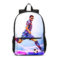 Backpacks For Boys Girls Sports Football 3D Printing School Bag Teenager Bookbag Casual Daypacks Travel Backbag Mochila Escolar