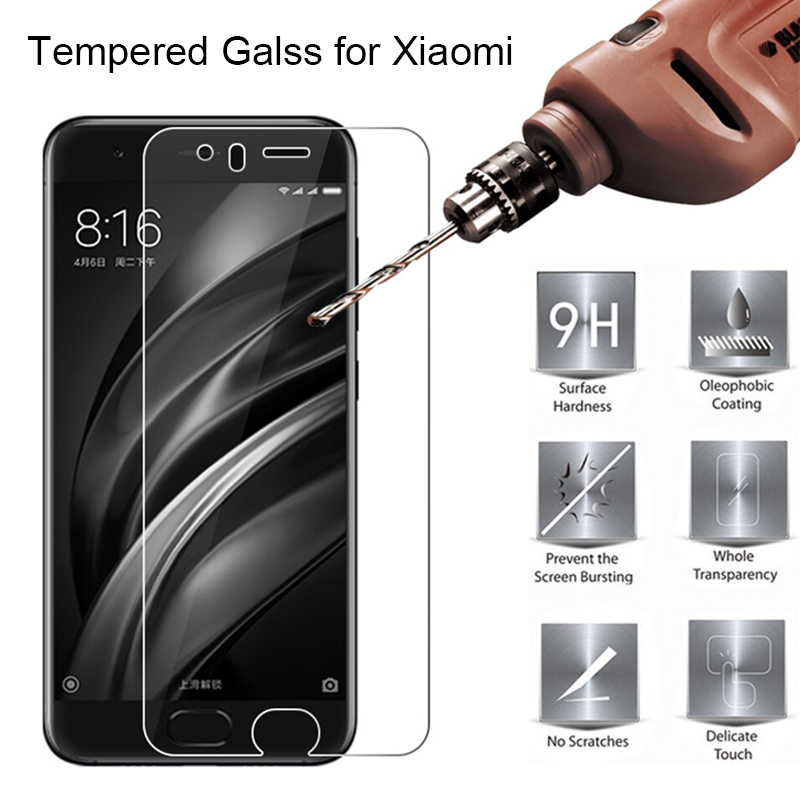 HD 9H Tempered Glass For Xiaomi Mi6 Mi5s Plus Screen Film Glass For Xiaomi Mi Note 2 Glass On Xiaomi Mi2 Mi3 Mi4i Mi4S Mi4C Mi5C