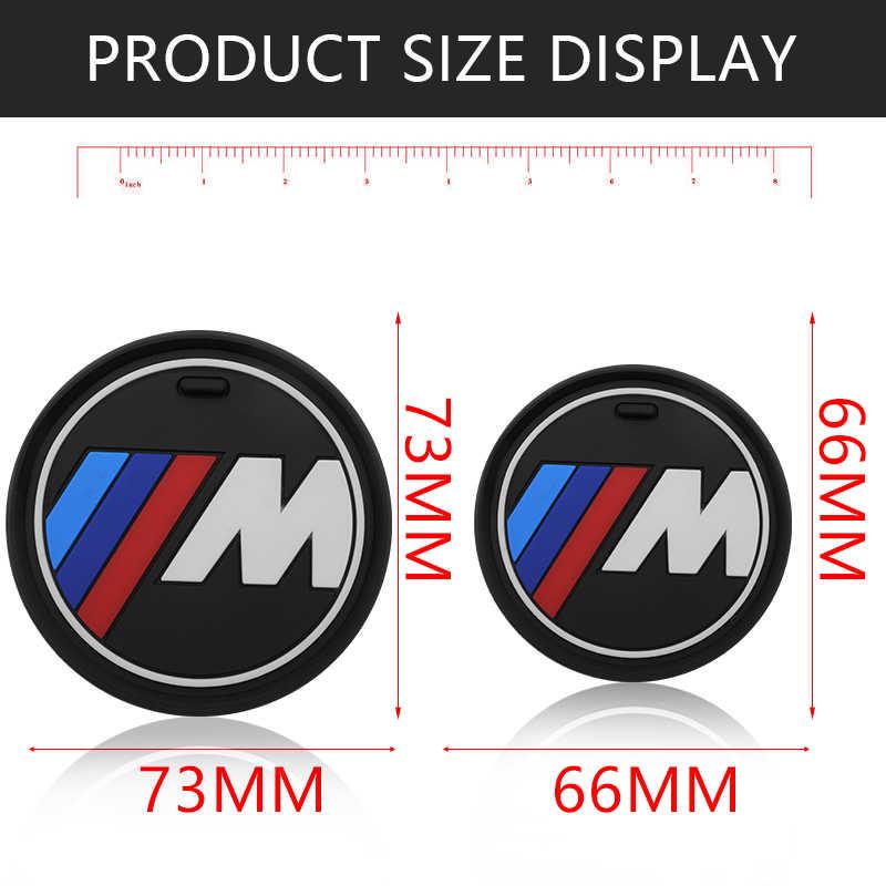 1 sztuk wnętrza samochodu uchwyt na kubek wody antypoślizgowe Pad Mat dla bmw M naklejki X1 X3 X4 X5 X6 X7 e46 e90 f20 e60 e39 akcesoria
