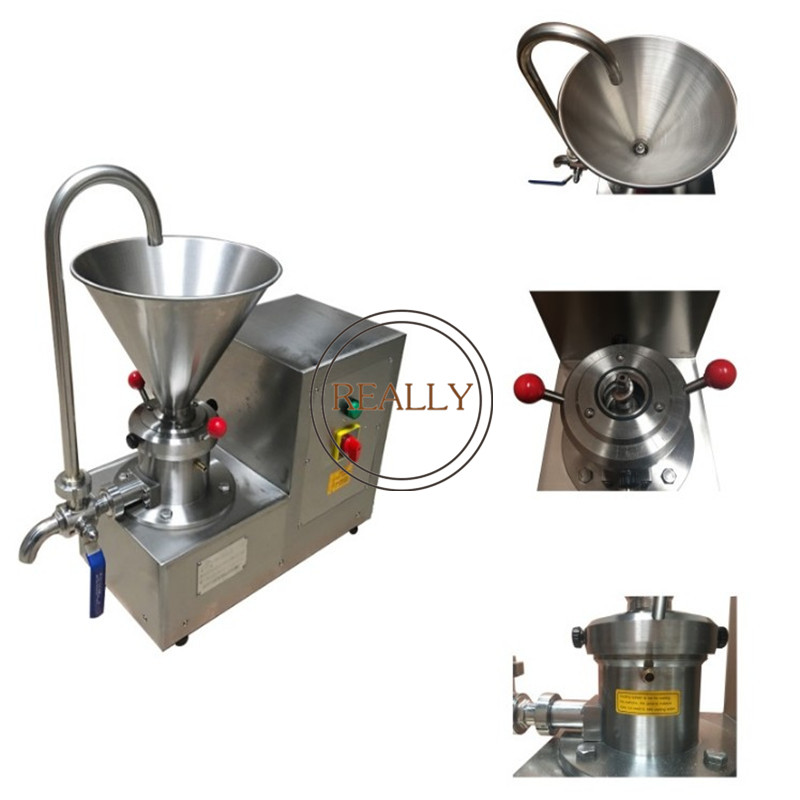 Stainless Steel REJMS 60 Potato Fruit Paste Making  Chilli Colloid Mill Beans Grinder Machine For Commercial And Home Use