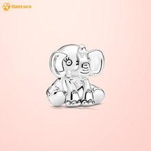 Danturn осенние серебряные бусины 925 пробы Элли слон очаровательный