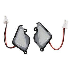 2X6500K белый светодиодный светильник под боковым зеркалом, лампа для лужа для Skoda Octavia Mk3 5E 2012-2017 Superb 2 Octavia 3