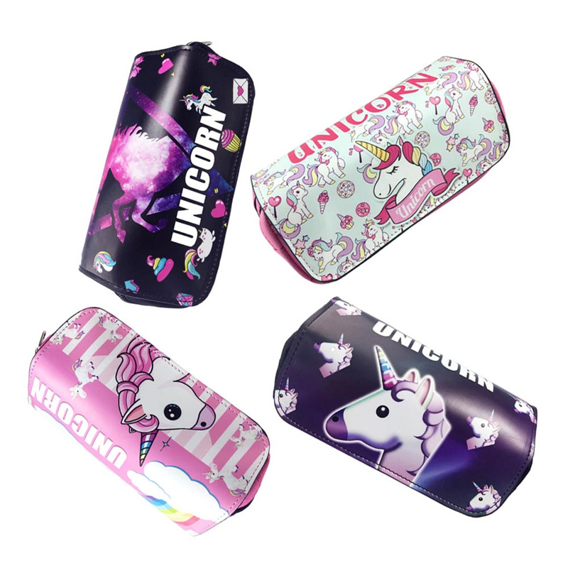 1 Pcs Kawaii <font><b>Big</b></font> <font><b>Pencil</b></font> <font><b>Case</b></font> Unicorn <font><b>Canvas</b></font> Gift Estuches School <font><b>Pencil</b></font> Box Pencilcase <font><b>Pencil</b></font> Bag School Supplies Stationery image