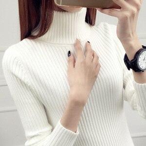 Image 1 - Camisola de camisola completa real novo estilo outono e inverno 2020 jaqueta de estilo curto com colo interno mais grosso de manga comprida de malha inferior