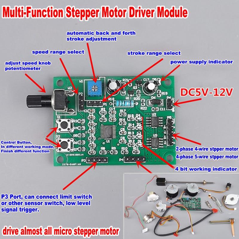 DC 5v linear slider Mini Stepping Motor 2-phase 4-wire Stepper CD-ROM Driver