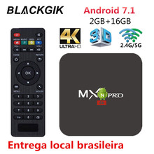 MX Pro Android TV BOX 4K H.265 IPTV Android 7.1 Smart Top