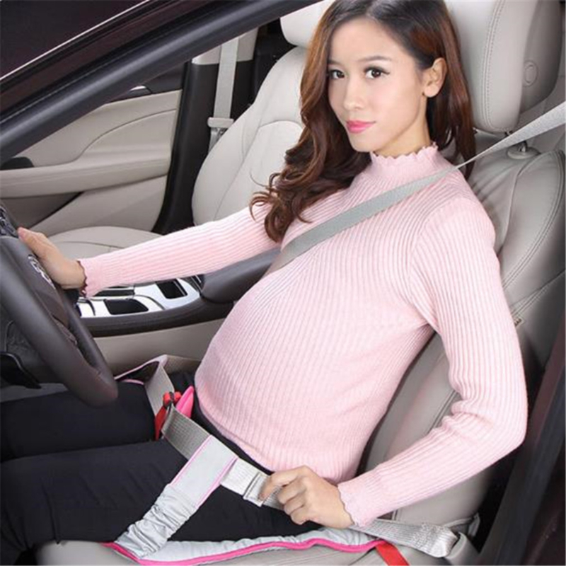 Pregnant Women Car Seat Belt Clip Strap Seat Cushion Fetal Protection Belt Soft Safety Abdominal Band Protect