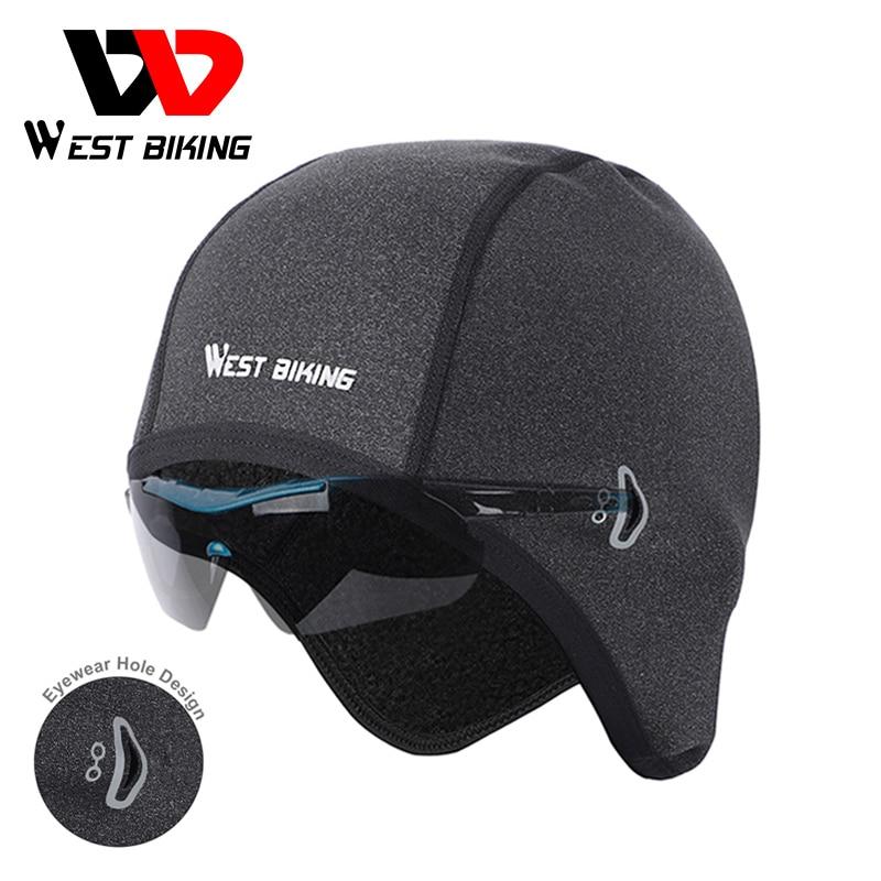 West biking ciclismo boné térmica à prova de vento bandana esportes bonés da bicicleta do velo dos homens inverno chapéu de esqui cabeça quente mtb bicicleta bonés