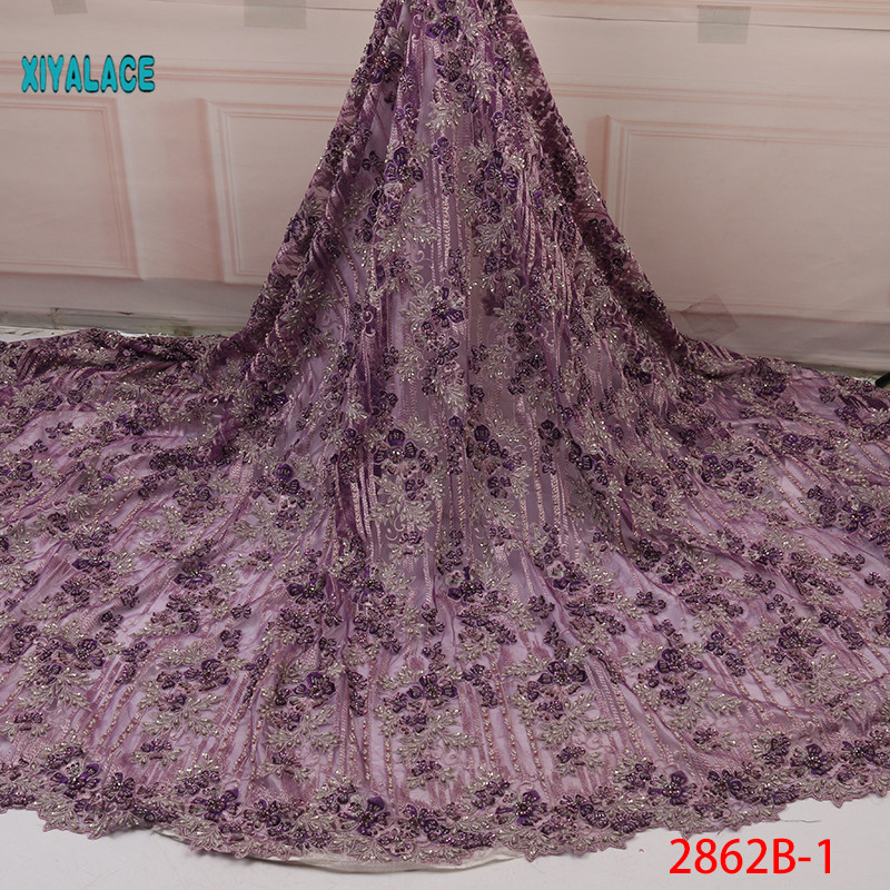 African Lace Fabric Latest 2019 High Quality Lace Handmade French Lace Fabric Bridal Lace For Nigerian Party Dress YA2862B-1