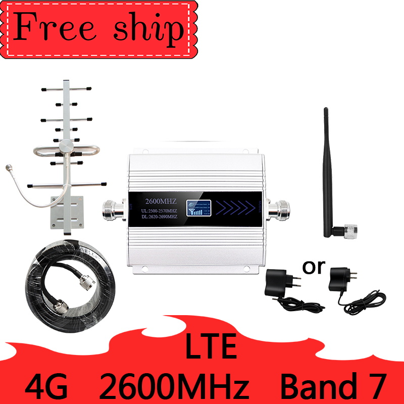 2600mhz  LTE 4G Cellular Signal Booster 4G Mobile Network Booster Data Gain 65dbi Band 7 Cellular Phone Repeater  Amplifier Gsm