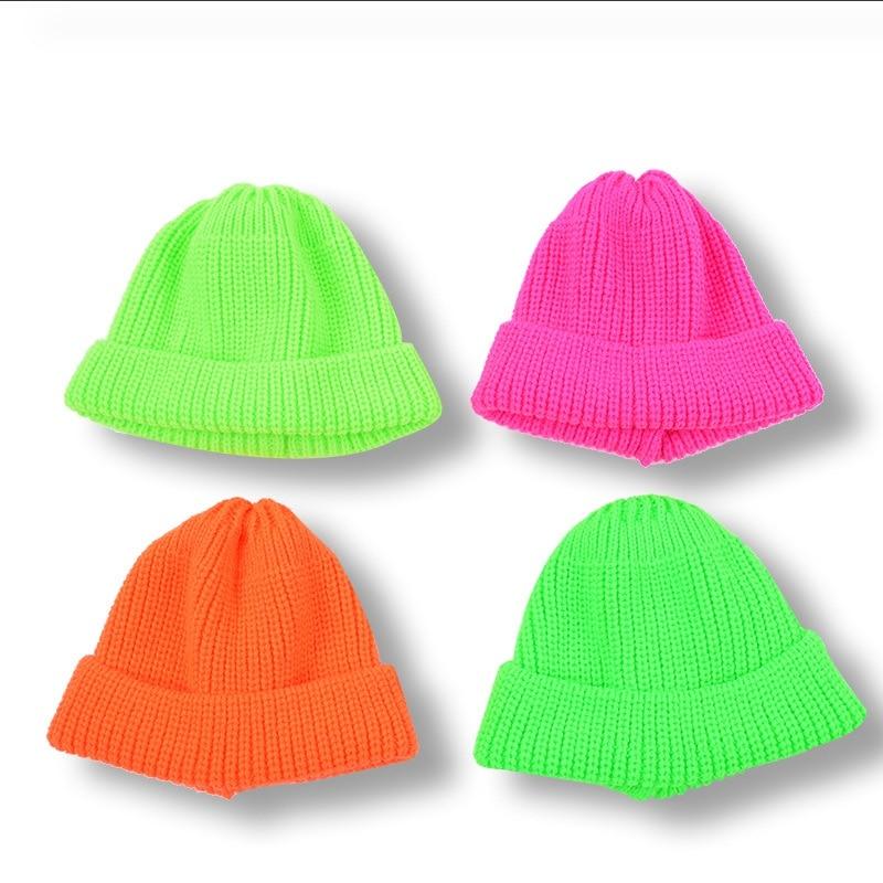 Beanie Hat Korean-Version Autumn Winter Keep-Warm Children's Casual Solid WZCX Tide Baby