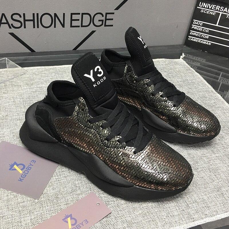 2019 mode hommes baskets en cuir véritable femmes vulcanisé chaussures unisexe respirant papa chaussures de haute qualité - 6