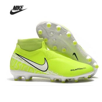Nike Phantom VSN Elite DF AG Men Football Boots High Ankle Soccer Shoe Women Man Football Shoes Botas hot selling phantom vsn 2 elite df fg football boots mens soccer shoes sales