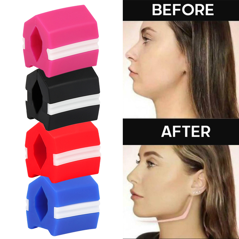 Face Lift JawLine Exerciser Ball Facial Jaw Muscle Toner Training Fitness Anti-aging Bite Strips Face Slimming Exerciser