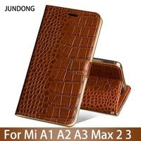 Flip Phone Case For Xiaomi Mi A1 A2 Lite A3 lite For Max 2 3 Mix 2s 3 Poco F1 Y3 Case Crocodile Texture Leather buckle Cover