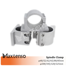 цена на MAXTENSO CNC Spindle Clamp 65MM Mounting Bracket 80MM 100 120mm For CNC Spindle Motor 0.8KW 1.5KW Milling Engraver Machine