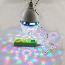 5V Usb przenośny efekt sceniczny oświetlenie imprezowe automatyczne obracająca się projekcja ledowa Disco DJ lampa do tańca na świeżym powietrzu kula dyskotekowa lampa z możliwością wielokrotnego ładowania