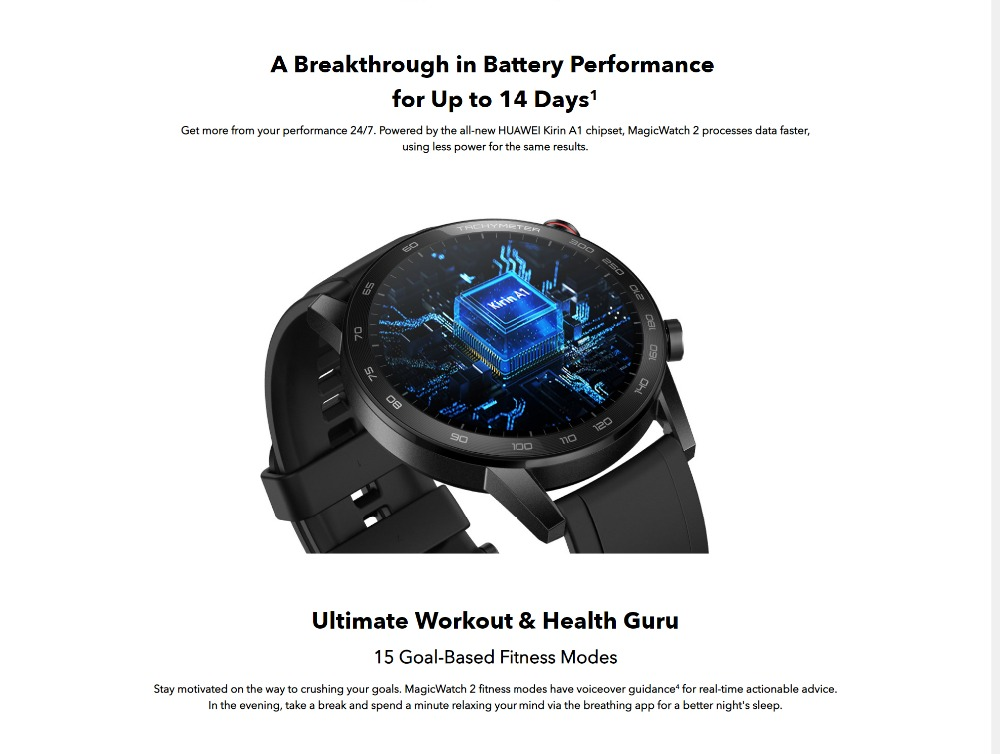 Honor Magic Watch 2 Smart Watch Bluetooth5.1 Smartwatch Not GT 2 Waterproof 14 Days Smart Sports Watch  Heart RatFor Android iOS (10)