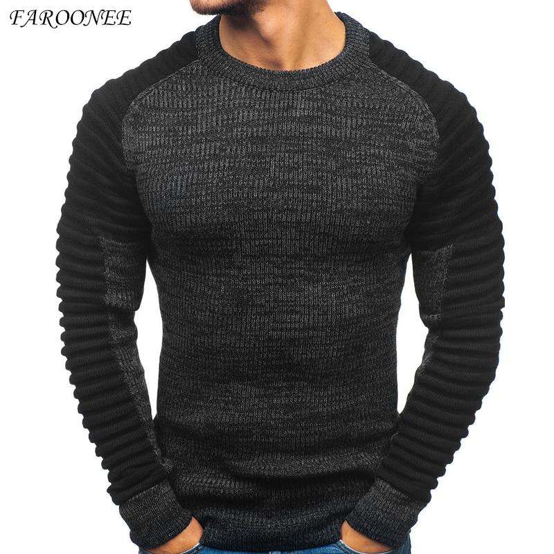 Faroonee 2021 Slim Thickened Men's Base Coat Turtleneck Sweater Men Sweater Black Sweater Knitwear Long Sleeve Basic Sweater