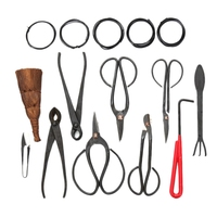 10Pcs Bonsai Tool Set Carbon Steel Extensive Cutter Scissors Kit With Nylon Case For Garden Pruning Tools