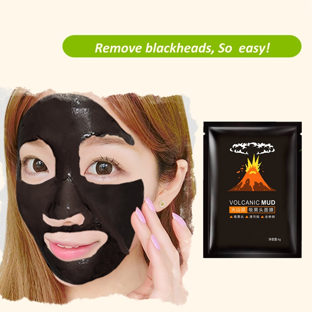 1 Pcs Volcanic Mud Delay Ageing Facial Mask Anti Wrinkle Face Lift Nose Blackhead Remover Wrapped Masks Face Pack Skin Care