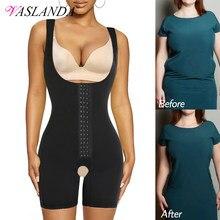 Mulheres shapewear barriga controle bodysuit fajas colombianas corpo inteiro shaper emagrecimento roupa interior meados da coxa mais magro cintura cincher