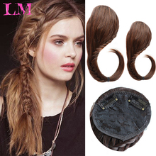 Hair-Piece Bangs Fringe Braided Heat-Resistant Clip-In Synthetic Liangmo