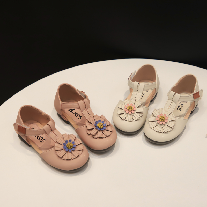 Lookykit sandalias para niñas 2020 primavera nuevos niños zapatos de suela suave antideslizantes flor salvaje princesa niños zapatos de moda tamaño 21-30